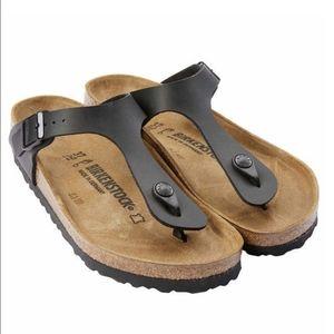 Birkenstock Gizeh Black Birko-Flor Thong Sandals